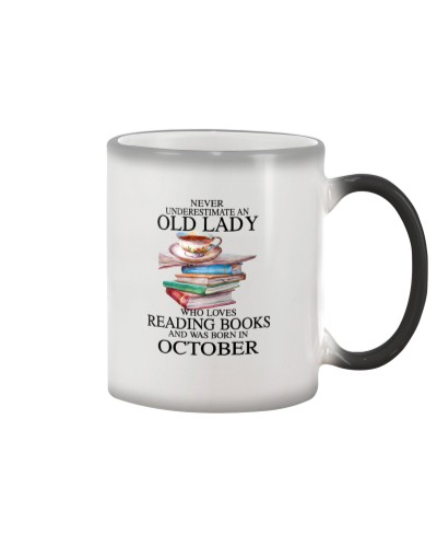 Old lady loves reading books October