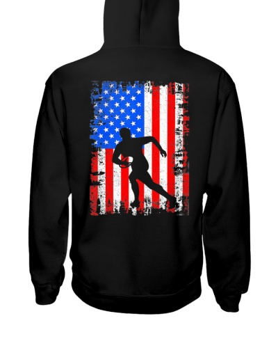 Rugby T-Shirt American Flag