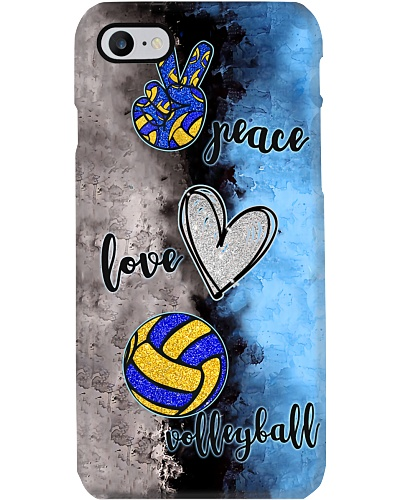 Peace - love - volleyball phonecase