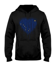 Heart paint Alaska flag uyen 9998 0037 Hooded Sweatshirt front