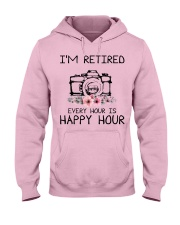 I'm retiered-Every hour is happy hour photography Hooded Sweatshirt front