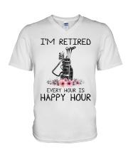 I'm retiered - Golf V-Neck T-Shirt thumbnail