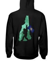 New Hampshire - Bigfoot Flag 2 sides Hooded Sweatshirt back