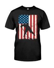 Hockey American Flag Classic T-Shirt thumbnail