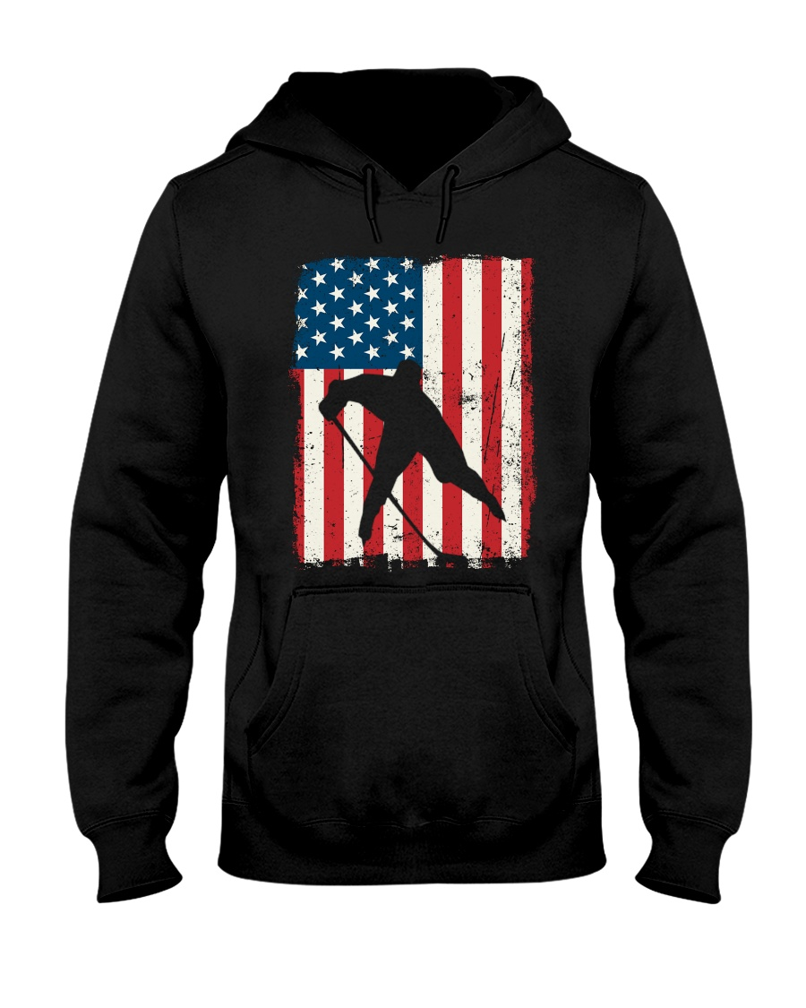 Hockey American Flag Hooded Sweatshirt