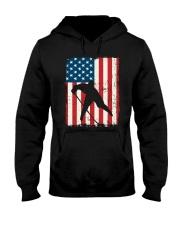 Hockey American Flag Hooded Sweatshirt front