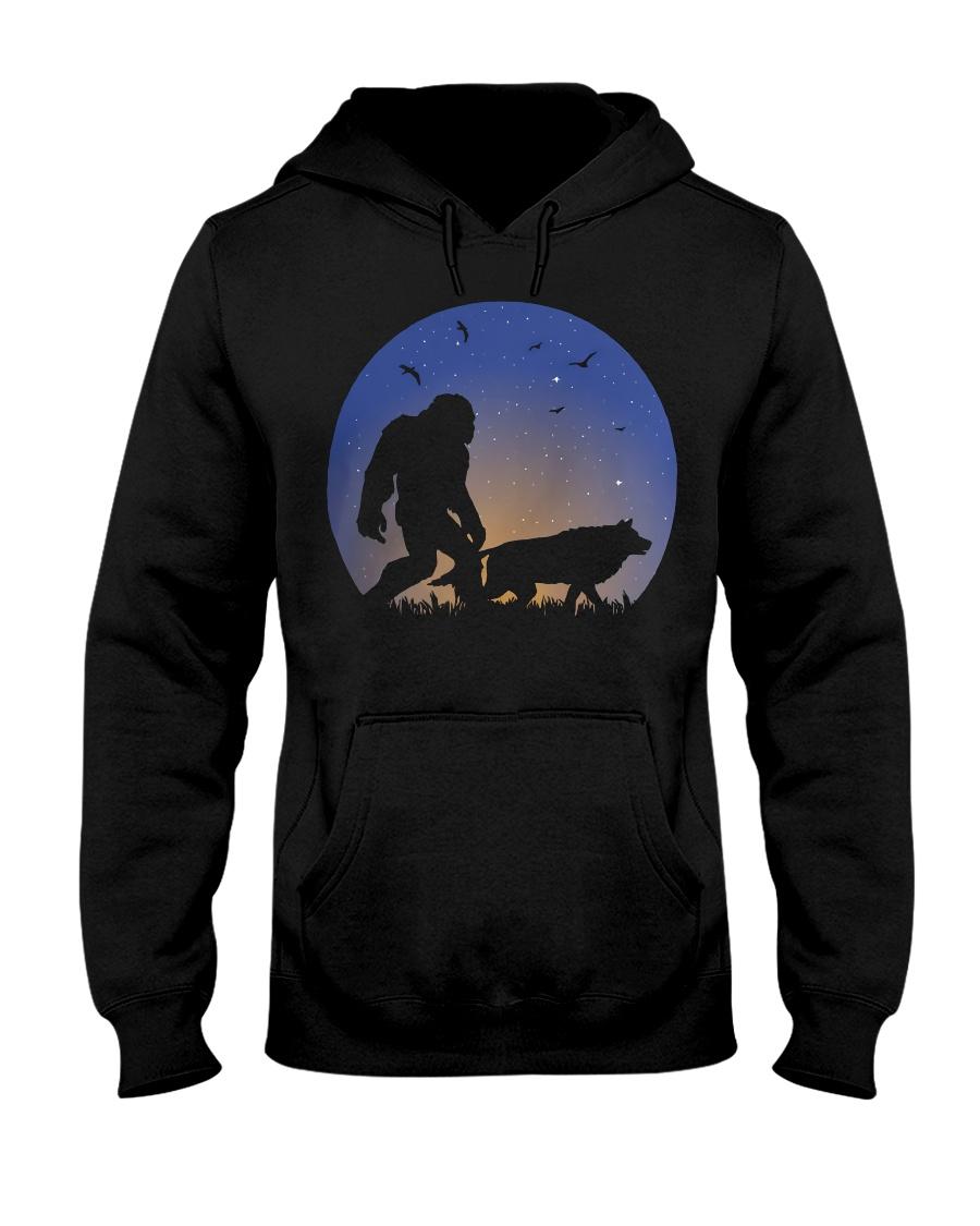 Bigfoot-Wolf Hooded Sweatshirt