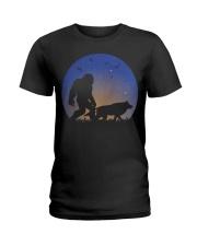 Bigfoot-Wolf Ladies T-Shirt thumbnail