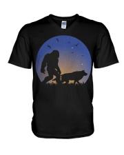 Bigfoot-Wolf V-Neck T-Shirt thumbnail
