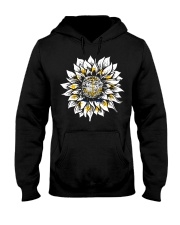 Sunflower Rhode Island flag 0037 Hooded Sweatshirt front