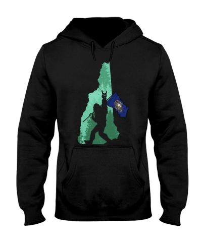 New-Hampshire - Bigfoot Flag