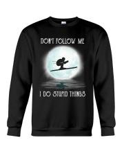 Skiing under the moon Crewneck Sweatshirt thumbnail