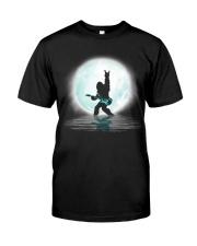 Bigfoot guitar rock and roll under the moon Classic T-Shirt thumbnail