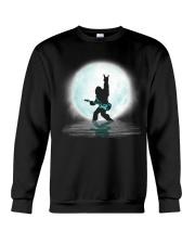 Bigfoot guitar rock and roll under the moon Crewneck Sweatshirt thumbnail