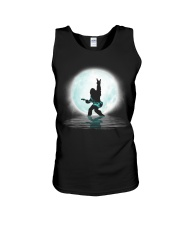 Bigfoot guitar rock and roll under the moon Unisex Tank thumbnail