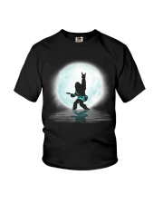 Bigfoot guitar rock and roll under the moon Youth T-Shirt thumbnail