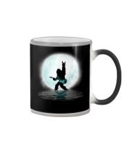 Bigfoot guitar rock and roll under the moon Color Changing Mug thumbnail