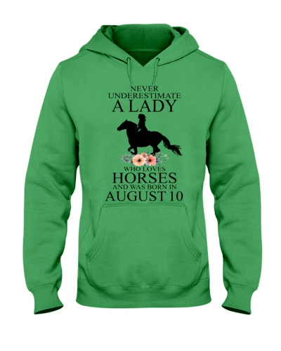 A lady who loves horses and was born in August 10