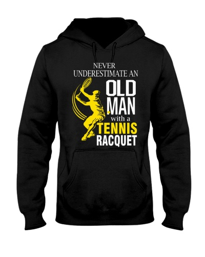 never underestimate an old man - tennis