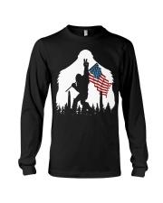 Bigfoot peace sign USA flag Long Sleeve Tee thumbnail