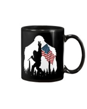 Bigfoot peace sign USA flag Mug thumbnail