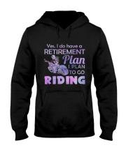 Motorcycle- Retirement Plan 9997 Hooded Sweatshirt front
