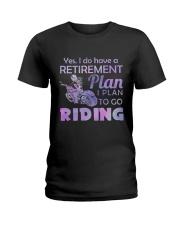 Motorcycle- Retirement Plan 9997 Ladies T-Shirt thumbnail