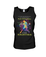 Pickleball - creat equal eighties  Unisex Tank thumbnail