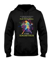 Pickleball - creat equal eighties  Hooded Sweatshirt front