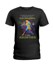 Pickleball - creat equal eighties  Ladies T-Shirt thumbnail