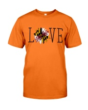 Love sunflower Maryland flag 0037 Classic T-Shirt front