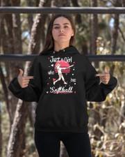 Just a girl who loves softball Hooded Sweatshirt apparel-hooded-sweatshirt-lifestyle-05