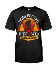 Bigfoot Hide and Seek Champion Classic T-Shirt front