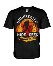 Bigfoot Hide and Seek Champion V-Neck T-Shirt thumbnail