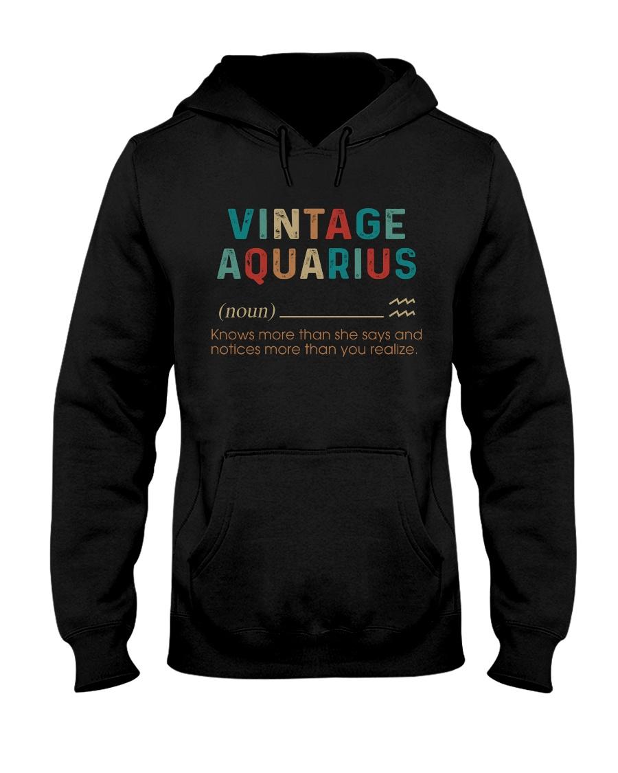 Vintage Aquarius  Hooded Sweatshirt