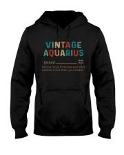 Vintage Aquarius  Hooded Sweatshirt front