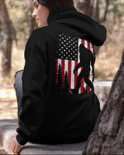 Bigfoot American USA Flag - Two sided Hooded Sweatshirt apparel-hooded-sweatshirt-lifestyle-06