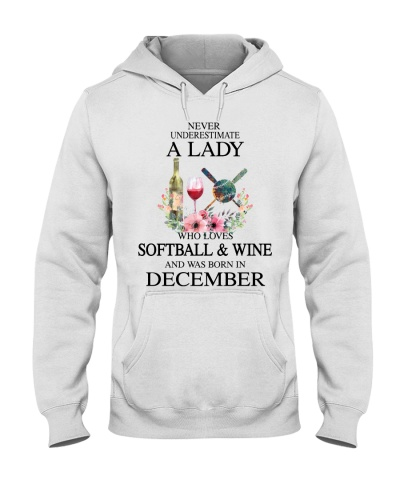 Softball Wine Never Underestimate a Lady December