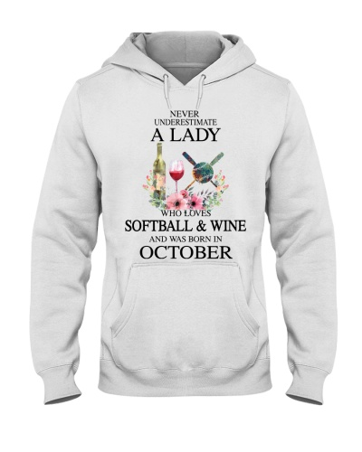Softball Wine Never Underestimate a Lady October