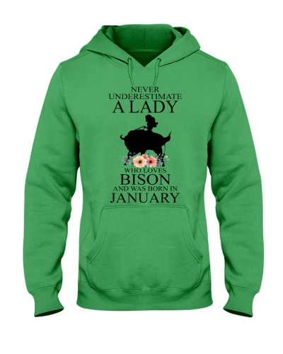 A lady who loves bison and was born in January
