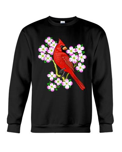 Red Cardinal Bird Dogwood Flower North Carolina