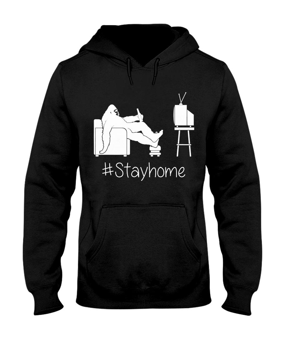 Bigfoot stayhome Hooded Sweatshirt