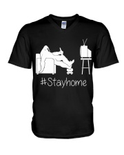 Bigfoot stayhome V-Neck T-Shirt thumbnail