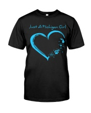 Just A Michigan Girl Blue Classic T-Shirt thumbnail