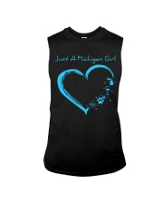 Just A Michigan Girl Blue Sleeveless Tee thumbnail