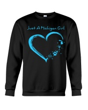 Just A Michigan Girl Blue Crewneck Sweatshirt thumbnail