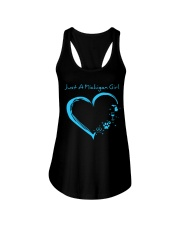 Just A Michigan Girl Blue Ladies Flowy Tank thumbnail