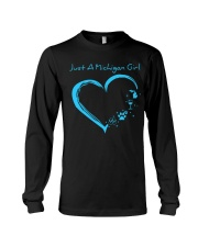 Just A Michigan Girl Blue Long Sleeve Tee thumbnail