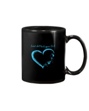 Just A Michigan Girl Blue Mug thumbnail