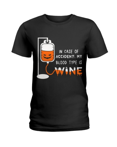 In case of accident my blood type is wine